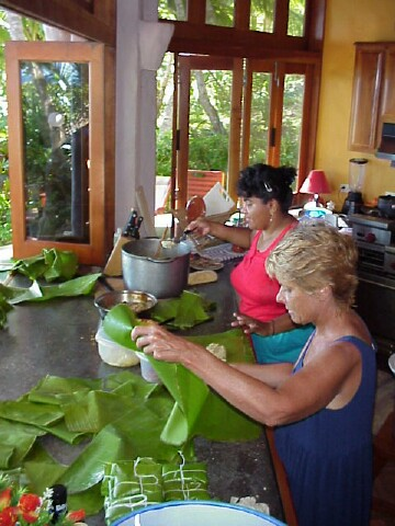 tamale-making